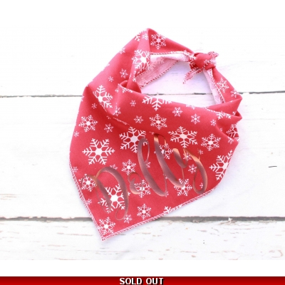 Personalised Christmas Snowflake Copper Gold Bandana